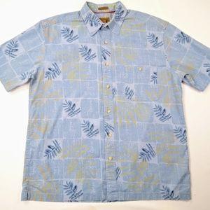 St. John's Bay Khaki Trekker Crosshatch Shirt Sz M